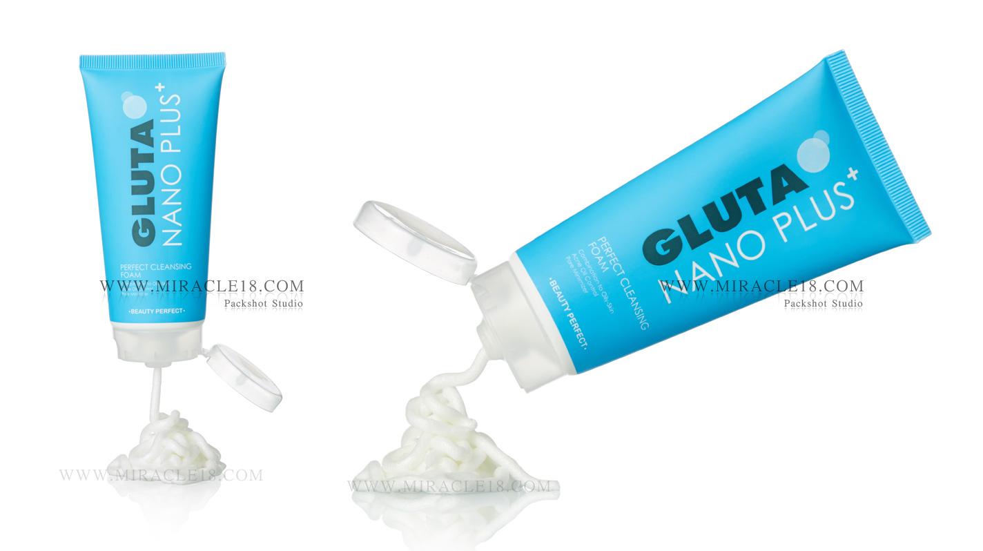 ถ่ายภาพสินค้า ผลิตภัณฑ์ เครื่องสำอางค์ GLUTA NANO PLUS