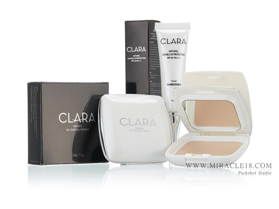 รับถ่ายภาพสินค้า เครื่องสำอางค์ CLARA
