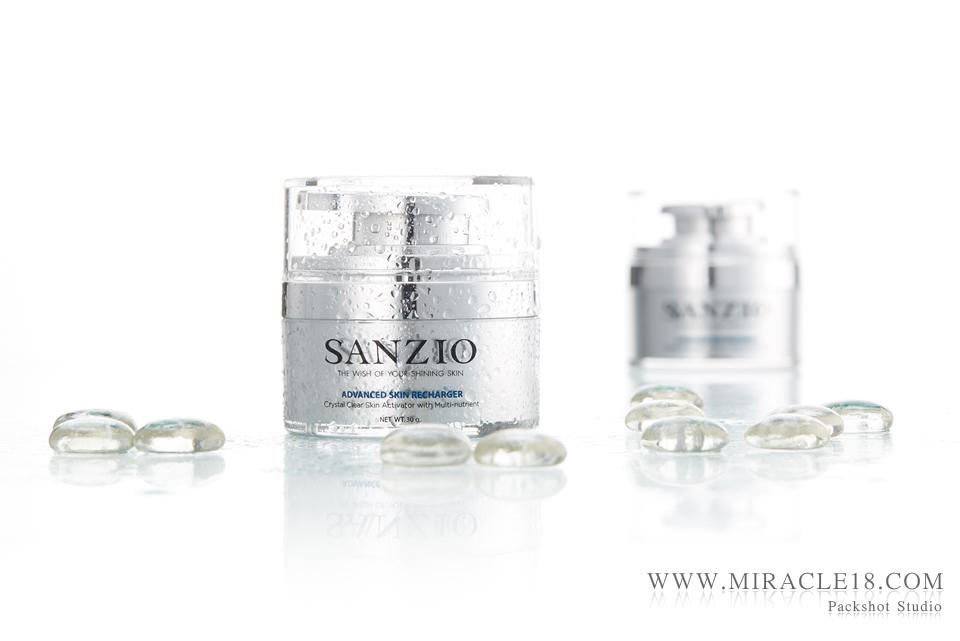 ถ่ายภาพสินค้า เครื่องสำอางค์ Sanzio