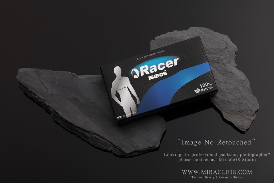 ถ่ายภาพสินค้า ผลิตภัณฑ์ อาหารเสริม Racer