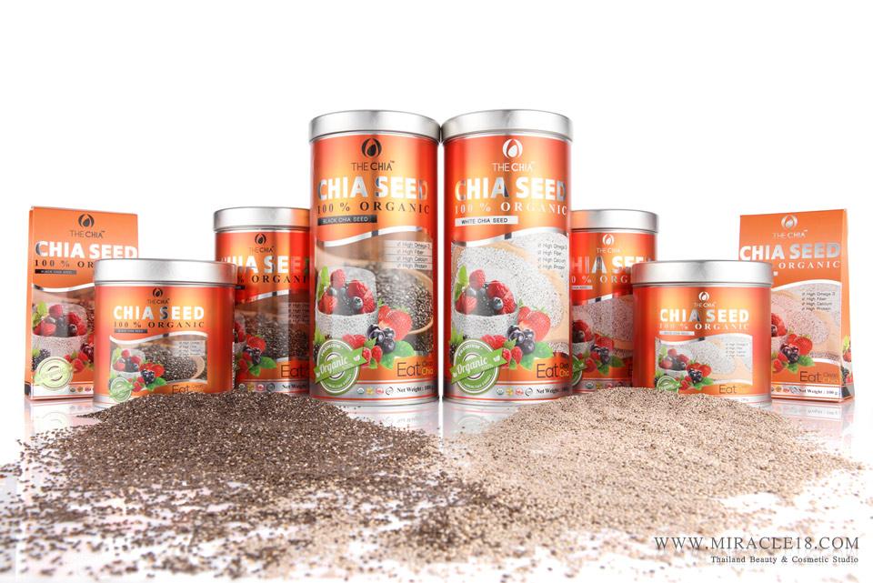 รับถ่ายภาพสินค้า ผลิตภัณฑ์ อาหารเสริม CHIA SEED