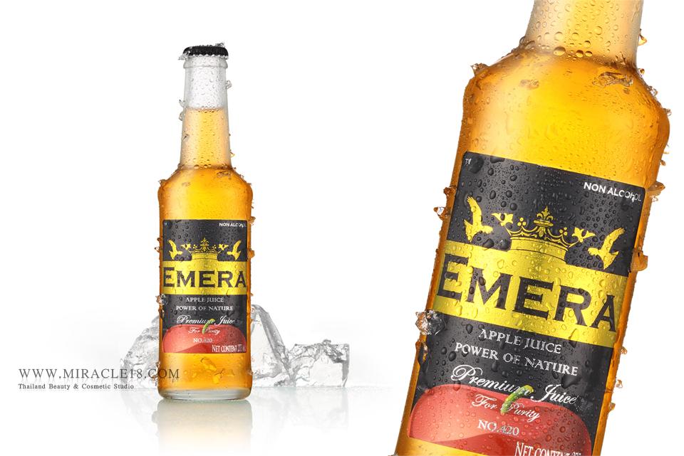 ถ่ายภาพสินค้า เครื่องดื่ม น้ำผลไม้ EMERA