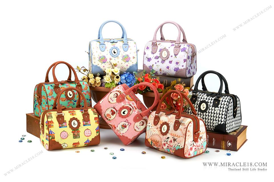 ถ่ายภาพสินค้า ผลิตภัณฑ์ กระเป๋า