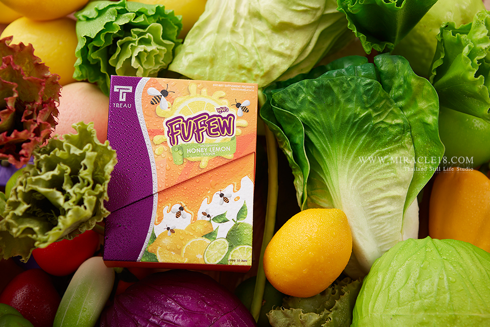 ถ่ายภาพสินค้า ผลิตภัณฑ์ อาหารเสริม FUFEW