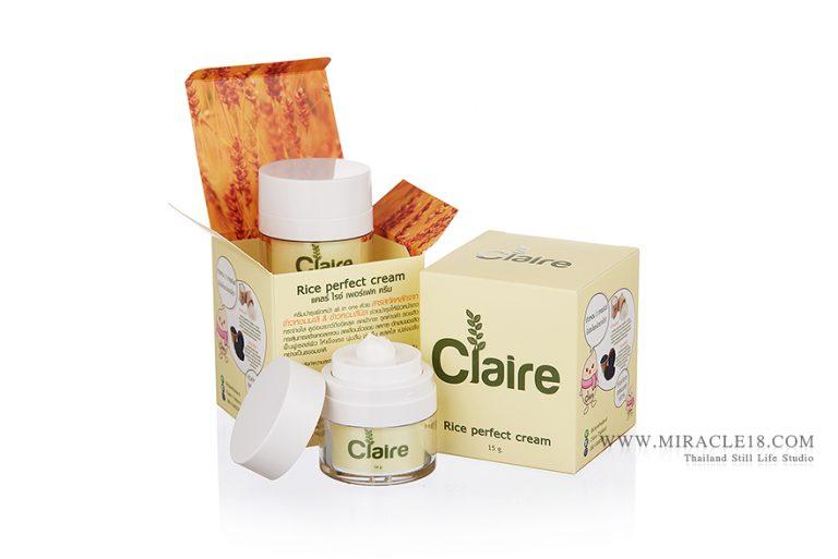 รับถ่ายภาพสินค้า ผลิตภัณฑ์ เครื่องสำอาง Claire